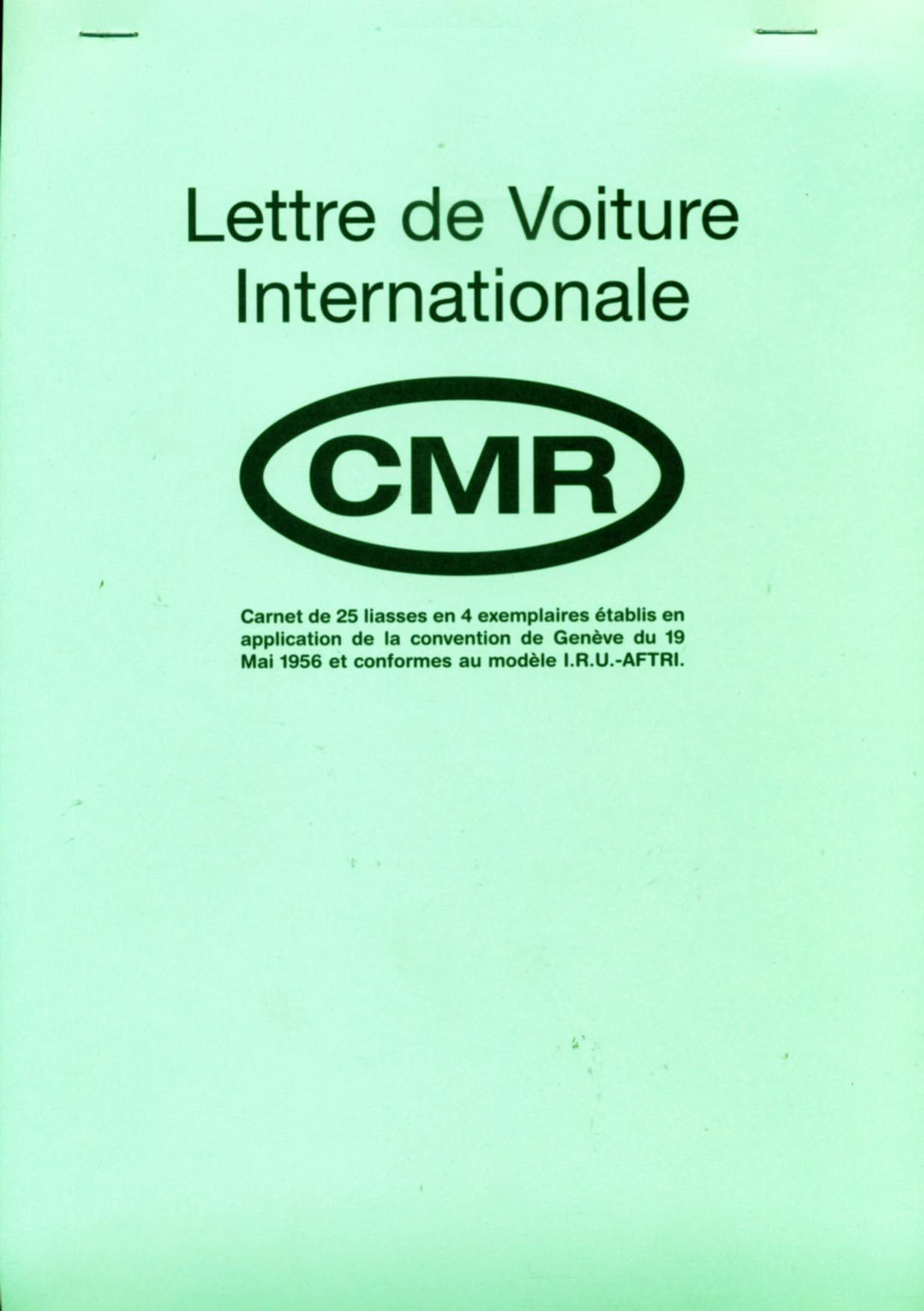 Lettre de Voiture InternationaleCMR
