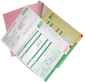 Carnets ou liasses en papier autocopiant